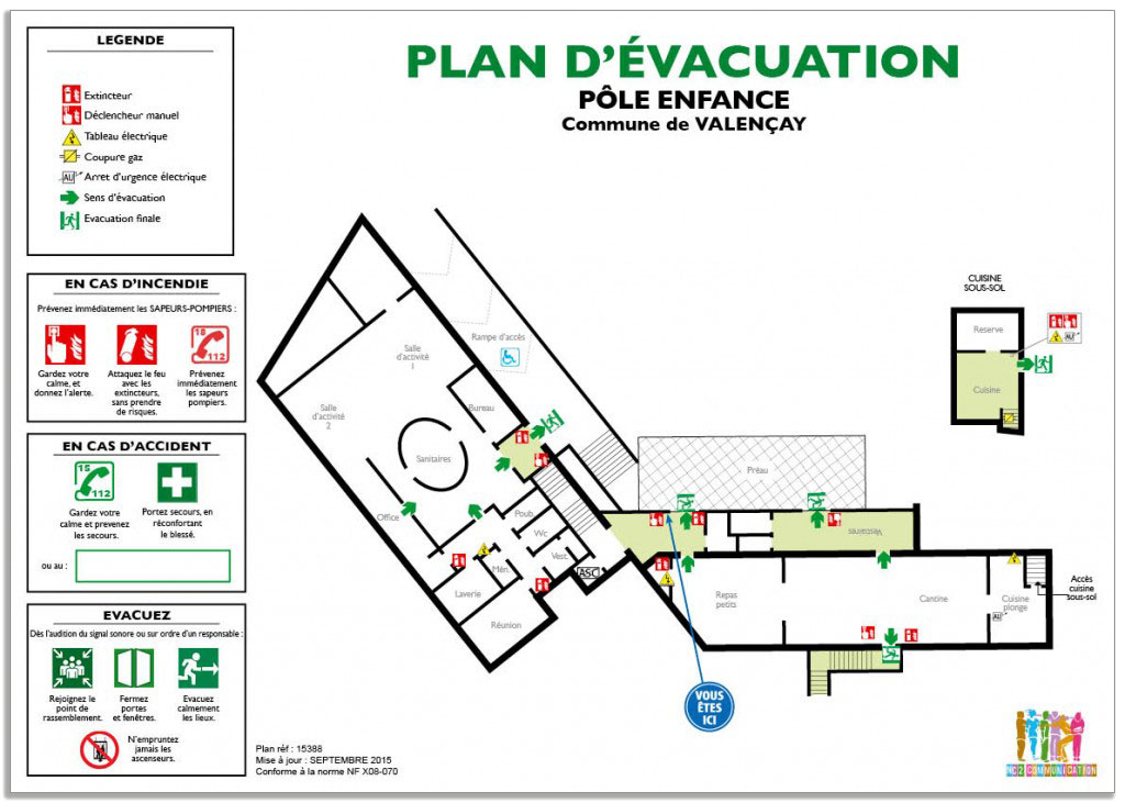 Plan d 39 vacuation norme nfx08 070 nc2 for Les plans de lowe